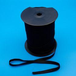 Goma confección plana negra