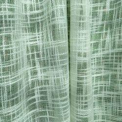 Cortina rústica tipo arpillera
