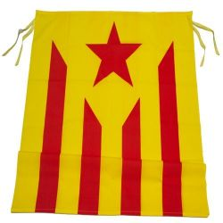 Bandera Estelada groga amb...