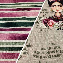 Loneta Half Panamà Frida Kahlo