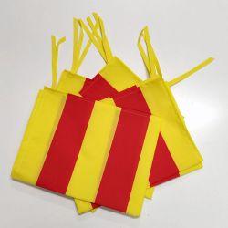 Bandera de Cataluña con cintas